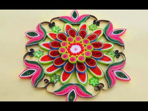by ethnico-Paper Quilling |Easy and simple rangoli using flowers | Creative rangoli designs for Diwali festival