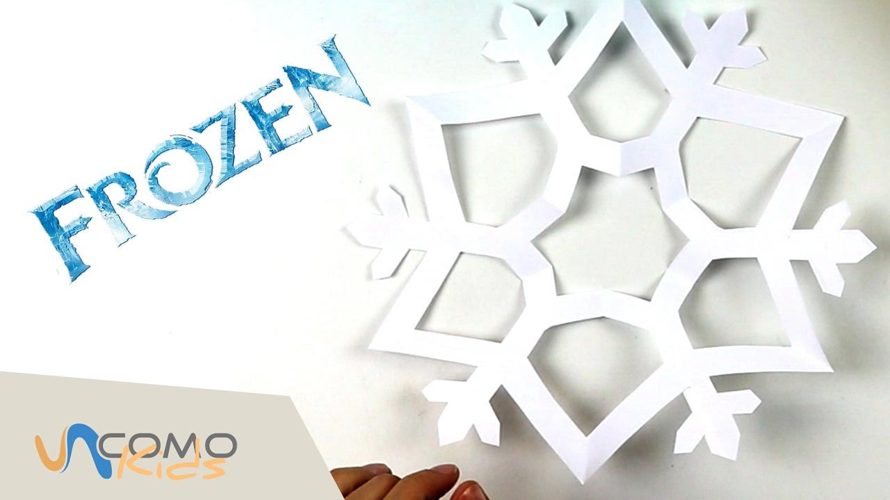Copos De Nieve Para Decorar Fiesta Frozen.Copo De Nieve De Frozen Con Papel Manualidades Para Ninos