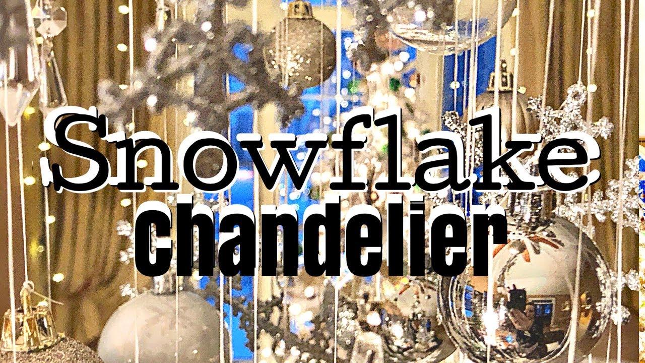 Dollar Tree Diy Snowflake Ornament Chandelier Affordable Decor