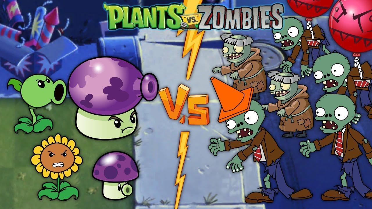 PLANTS VS ZOMBIES HEROES - Fume Shroom Level 9999, Cactus Level 9999 vs Zombies Heroes