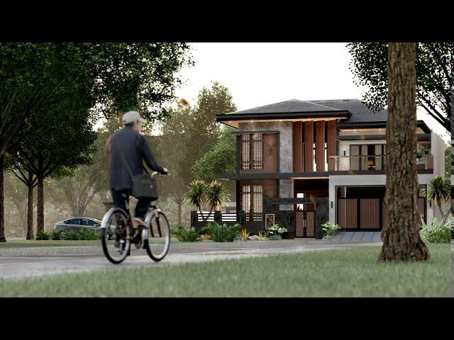 4 BEDROOM | Oriental Modernist House | VIGION STUDIOS Walkthrough Video