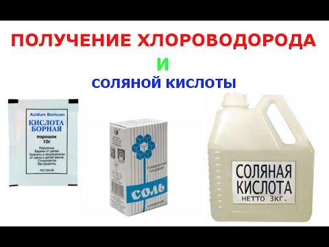 Как получить хлороводород