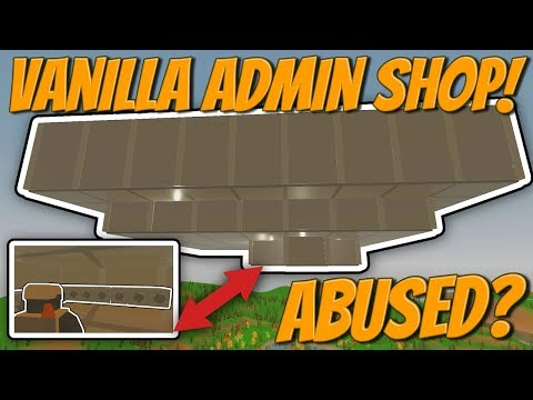 MASSIVE ADMIN ABUSED VANILLA SKY SHOP RAID! - Unturned Vanilla Base Raids!