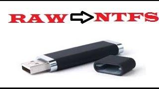 PROBLEME USB: CHANGER LE FORMAT RAW vers NTFS