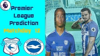 Cardiff City vs Brighton Premier League Matchday 12 Prediction