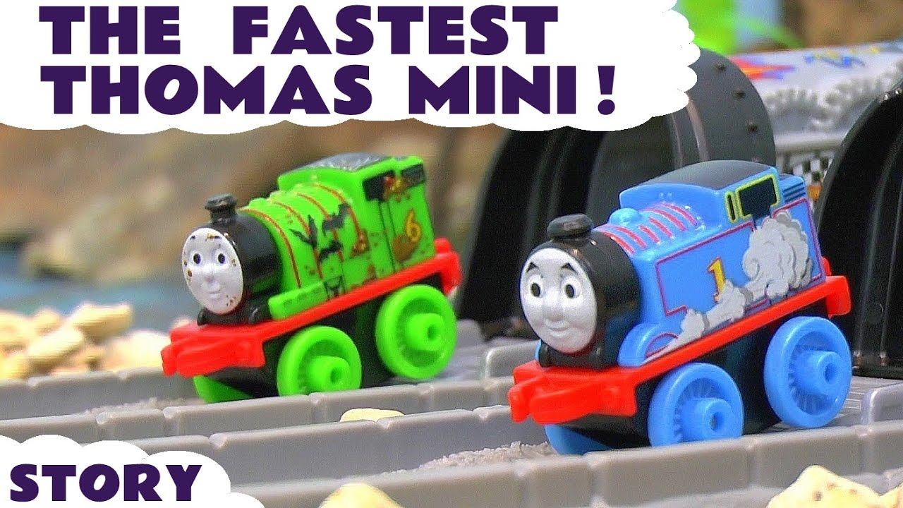 Thomas and Friends Minis Racing - Toy Trains Race Story with Minis Blind Bags opening ToyTrains4u