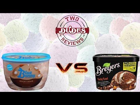 Blue Bunny Rocky Road Ice Cream VS Breyers Rocky Road Ice Cream - TDRVS