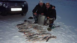 Зимняя рыбалка на щуку на жерлицы.