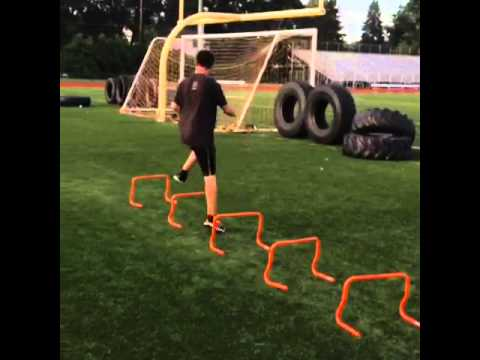 Athletic kids training camp - mini hurdles part 2