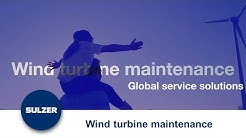 Wind turbine maintenance and global service solutions