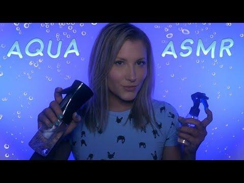 ASMR | Aqua Sounds Ear to Ear (Water Spraying, Sloshing, and Fizzing)
