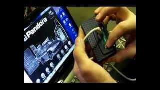 Pandora 4200 GSM. Пример настройки мотосигнализаии.  Часть №1