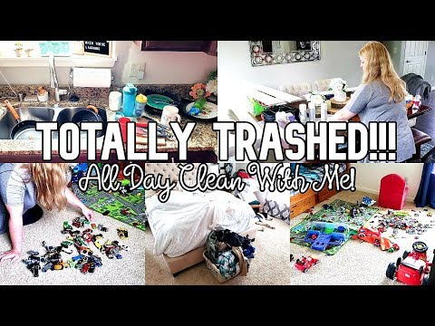 MESSY HOUSE TRANSFORMATION | COMPLETE DISASTER CLEAN WITH ME | ALL DAY CLEANING | TIME LAPSE CLEAN