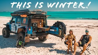 4x4 BEACH CAMPING IN WARROORA STATION - Jeep Overlanding & Spearfishing Along Ningaloo Reef |Ep 27|