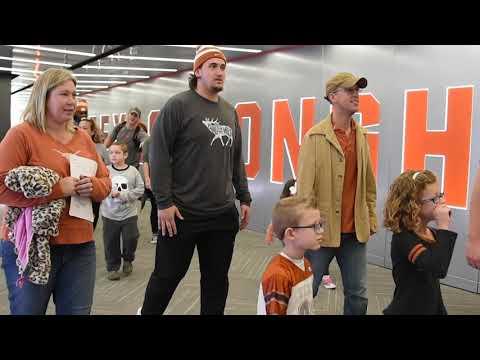 Dell Children's visit to Texas Football [Nov. 14, 2017]