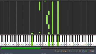 Synthesia - The Incredible Hulk - The Lonely Man Piano Tutorial