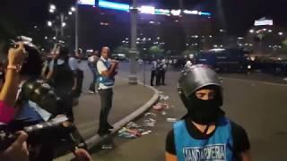 Protest violent in Piata Victoriei - bataie jandarmi - Protestul Diasporei 10 august