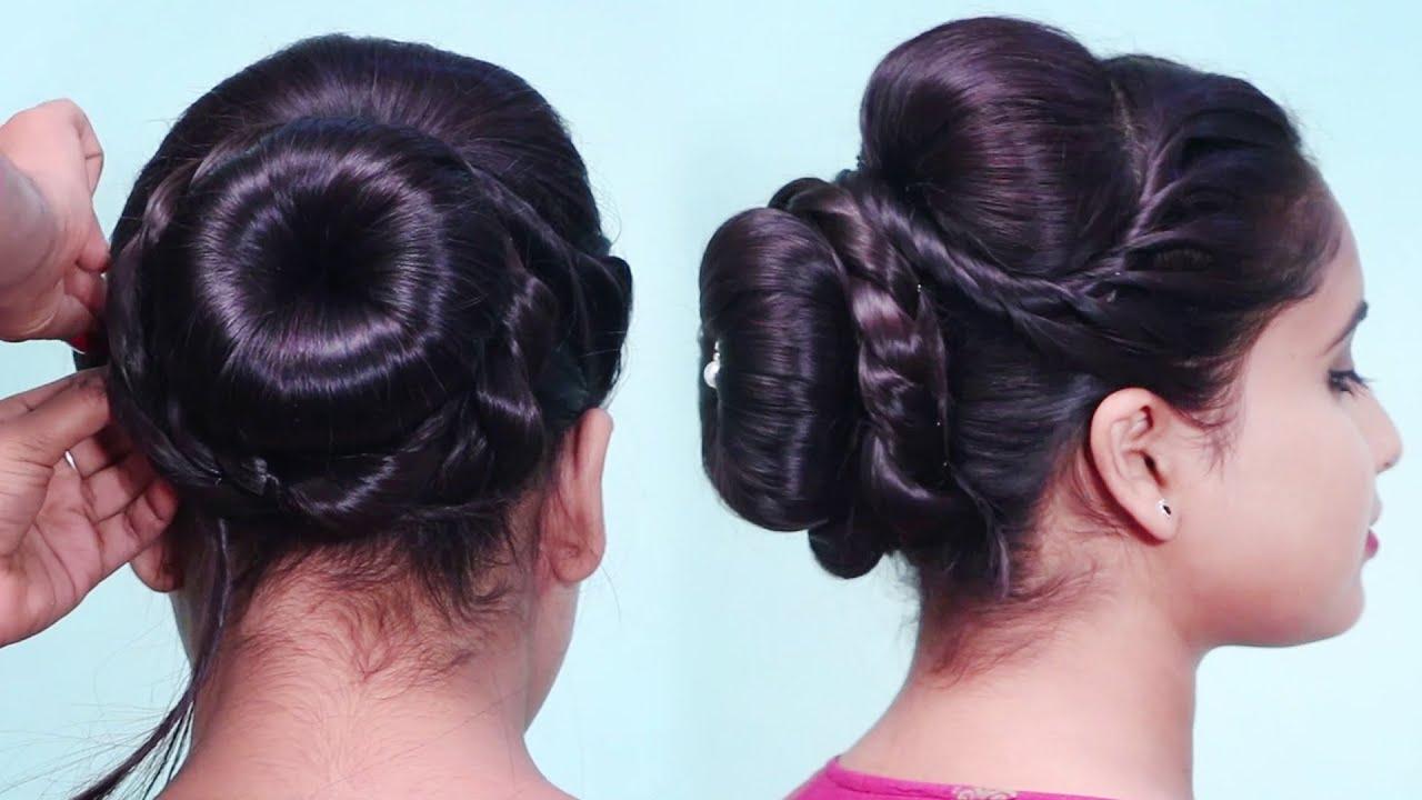 New Donut Bun Hairstyles / Hair Bun With Donut / Hairstyles Using Donut Bun