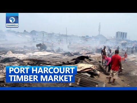 Victims Lament, Count Losses As Fire Guts Port Harcourt Market