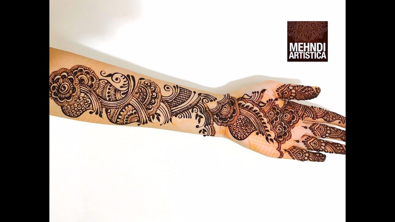 Mehndi designs Application video for hands | Easy Arabic henna ...