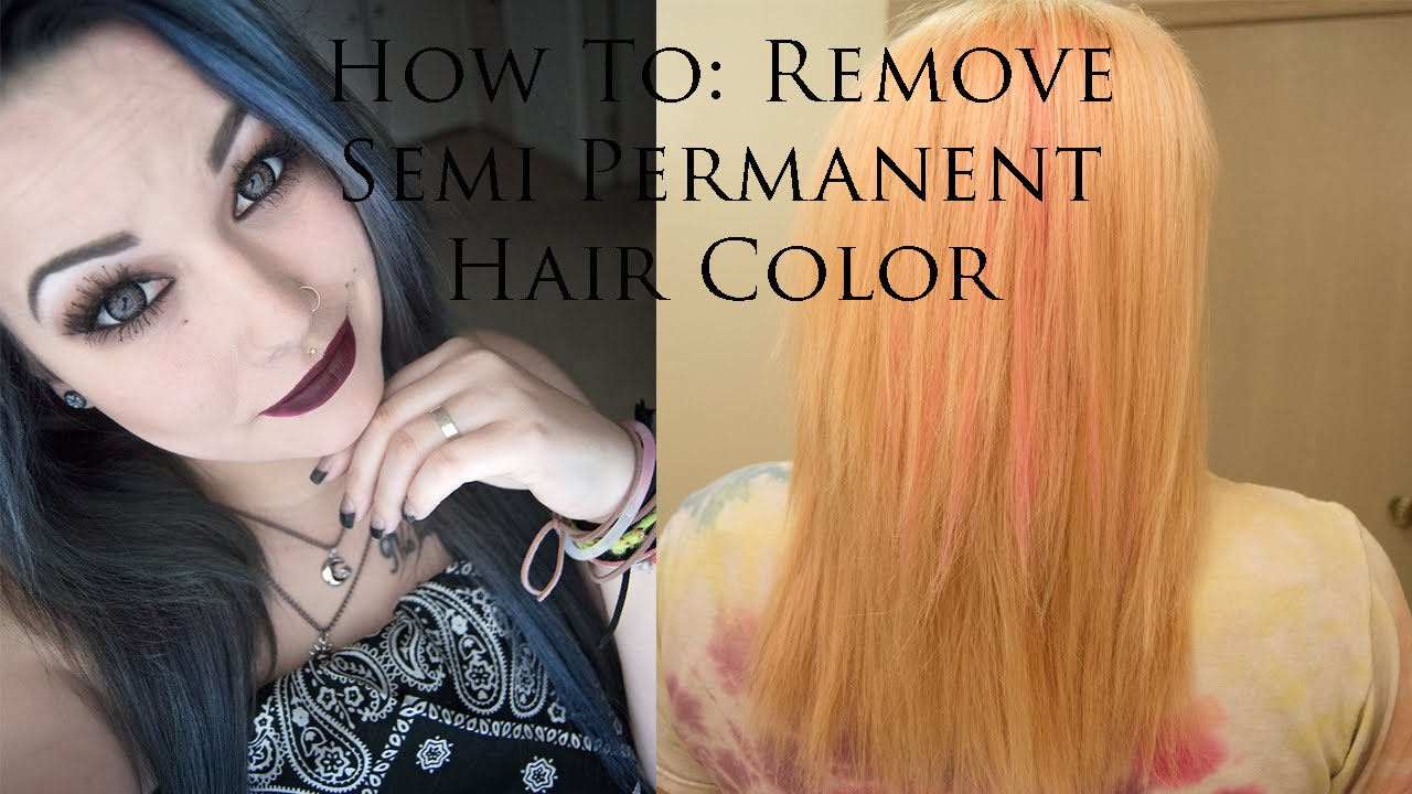 How To: Remove Semi Permanent Hair Color | Bleach Hair - YouTube