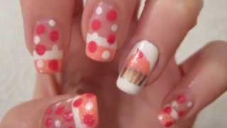 Cupcake Birthday Nail Art