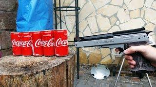 EXPERIMENT - Durch wie viele COCA COLA DOSEN schießt die STÄRKSTE LUFTPISTOLE?