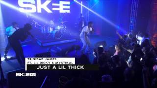 "Trinidad James Feat. Mystikal & Lil Dicky ""Just A Lil Thick"" Live on SKEE TV"