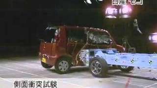 Crash Test 2011 - Nissan Moco / Suzuki Mr. Wagon (Side Impact) Jncap