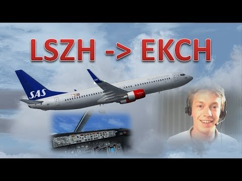 VATSIM: IFR Flight Example: Zurich to Copenhagen! - FULL ATC