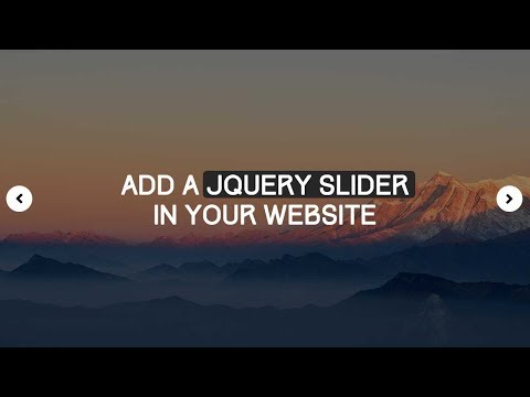 How To Add JQuery Slider In A Website (Easy)