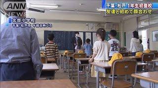 """千葉でも小学校再開 新1年生が初登校で""""ご対面""""(20/05/26)"""
