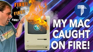 My Mac Caught on FIRE! | The Macintosh 512KE History & More!