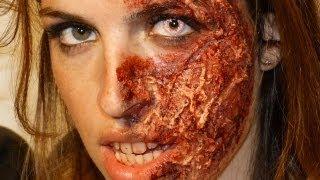 Maquillage Effets Spéciaux : Brûlure sur Bloggeuse Capucine