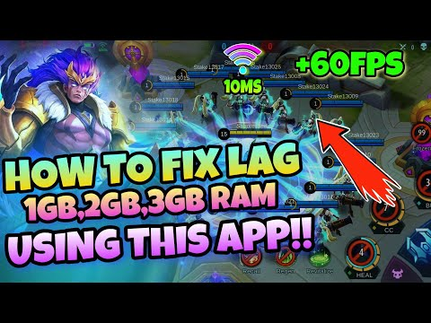 HOW TO FIX LAG 100% WORKING !! | 1GB,2GB,3GB, RAM PHONE IN MOBILE LEGEND 2020