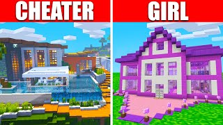 I Cheated vs Girl in Ultra Realistic Build Battle! (Minecraft)