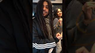 """Dancing with Skip Marley to """"Slow Down"""" ft H.E.R. 😍🥵🔥"""