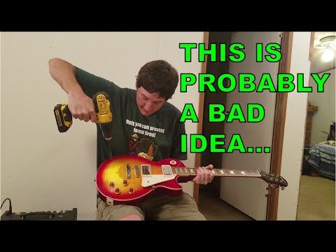 The Amateur Luthier Experience #1: Extreme Makeover, Les Paul Edition