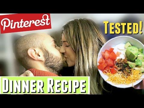 GIRLFRIEND COOKS DINNER FOR BOYFRIEND! Healthy Dinner Recipe for TWO, pinterest dinner recipe tested