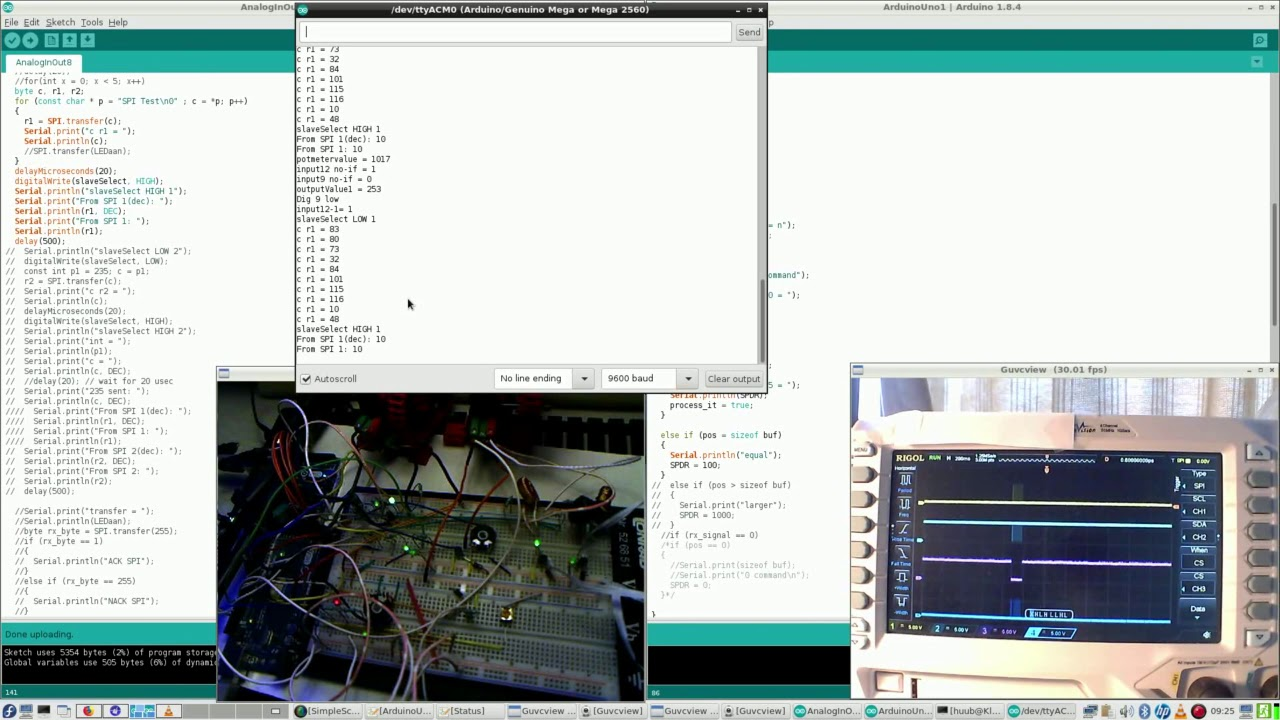 Arduino Mega2560 #83 : Transistor, fischertechnik, motor, SPI, AVR C,  algorithm, oscilloscope