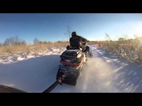 Покатушка на снегоходе lynx 900 часть 1