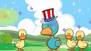 Funny English song & animation & nursery rhyme for kids    ducks