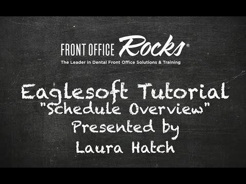 Eaglesoft Training: Schedule Overview Tutorial