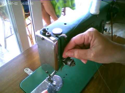 como enebrar maquina de coser SIGMA antigua. grabado con