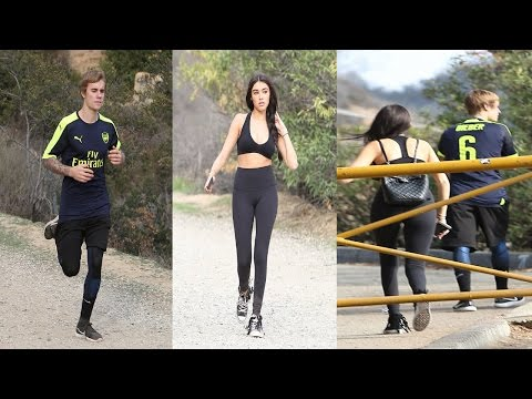 Justin Bieber Goes For A Run With Crop Top Wearing Protegee Madison