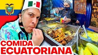 🔥 Probando COMIDA ECUATORIANA 🇪🇨 🍲 | Alex Tienda ✈️