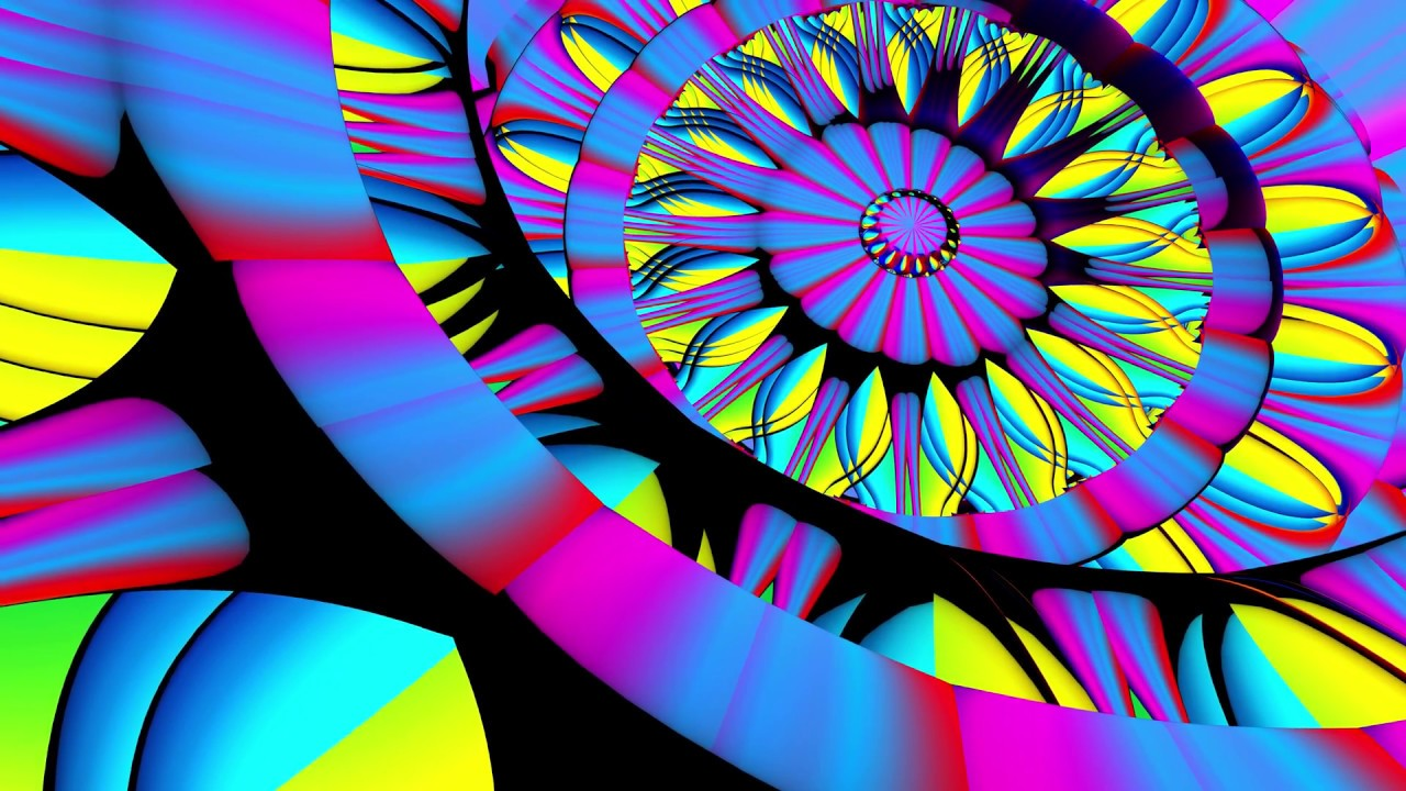 4k Moving Background 3d Colorful Mandala Compilation