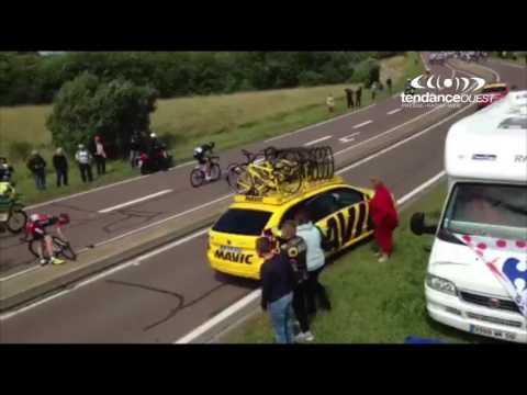 EXCLU VIDEO Tour de France 2016 :  la chute d'Alberto Contador en Normandie