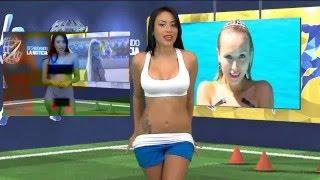 Телеведущая из Венесуэлы разделась во время эфира ВИДЕО