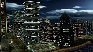 Night City 3D Screensaver for Windows HD